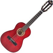 Valencia VC201 1/4 Classical Guitar Trans Wine Red