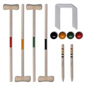 vidaXL Drveni set za kriket cetiri osobe
