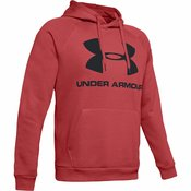 Under Armour Moški pulover PULOVER M RIVAL FLEECE LOGO Rdeča