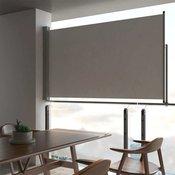 vidaXL Uvlaciva bocna tenda za terasu 140 x 300 cm siva
