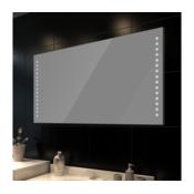 Kupaonica zidno ogledalo sa LED svjetiljkama 100 x 60 cm (V x Š)