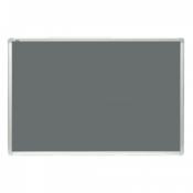 2X3 oglasna tabla - TTA456 Tabla za oglašavanje, 45 x 60 cm, Filc, aluminijum, Siva