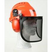 OREGON zaščitna čelada z jeklenim mrežastim vizirjem in glušniki Yukon