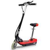 VIDAXL električni skuter s sedežem 120W rdeč