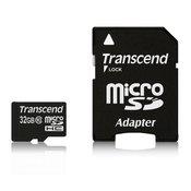 TRANSCEND memorijska kartica SD MICRO 32GB HC CLASS 10 + SD ADAPTER TS32GUSDHC10