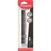Maped grafični svinčnik Deco HB 3/1 + radirka Blister