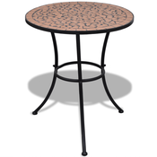 VIDAXL mizica z mozaikom terakota, 60cm
