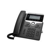 Cisco Telefonski sustav, VoIP Cisco Cisco IP Phone 7841-3PCC: - SIP, 4 Line LC zaslon Crna, Srebrna