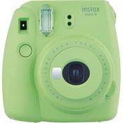 Fujifilm Instax Mini 9 Lime Green zeleni polaroid Fuji fotoaparat s trenutnim ispisom fotografije  Fujinon 60mm f/12.7 objektiv