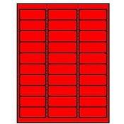 Nalepnice u boji CRVENA 70×37 100 listova