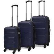 VIDAXL tri delni komplet trdih potovalnih kovčkov, moder