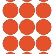 Kancelarijske etikete krug 32 mm 1/480 crvena