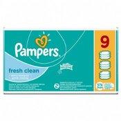 PAMPERS vlažne maramice Fresh Clean, 9x64 kom