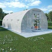 vidaXL Rastlinjak z jeklenim ogrodjem 18m2 600x300x200 cm