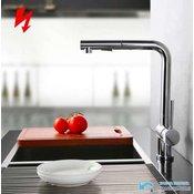 Nizkotlačna kuhinjska armatura | Pipa na 3 cevi za pretočne grelnike (bojler) EYN NT1602 (Barva-zaključni sloj: Krom)