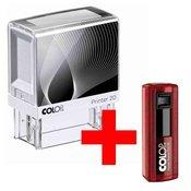 Štampiljka Colop Printer 20, belo-črno ohišje-vaš odtis v ceni (38x14mm) + žepna štampiljka 20