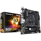 GIGABYTE B450M DS3H  AMD, AMD® AM4, AMD® B450, Micro ATX