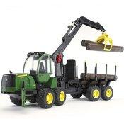 BRUDER Igracka šumarski traktor John Deere 1210E,