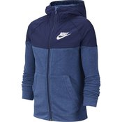 Nike B NSW HOODIE FZ AV, decji duks za fitnes, plava