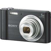 SONY digitalni fotoaparat CyberShot DSC-W800B, črn