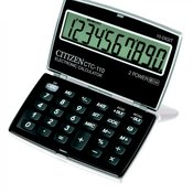 CITIZEN džepni kalkulator na preklop CTC-110, 10 cifara