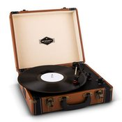 AUNA gramofon Jerry Lee Retro Record Player Turntable LP USB Brown