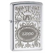 ZIPPO vžigalnik Classic An American Crown High Polish Chrome