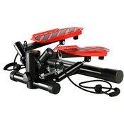 Swing steper z upornostnimi trakovi črne in rdeče barve