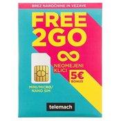 Predplačniški paket, Telemach, SIM Free2go