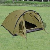VIDAXL šotor za 3 osebe, zelen