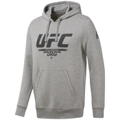 Reebok UFC FG PULLOVER HOO, muški duks za fitnes, siva