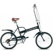 CAPRIOLO sklopivi bicikl Travel 20, crna, 6 brzina