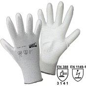 worky worky 1171 fino pletene rukavice, ESD najlon/ugljik-PU najlon/ugljik s PU prevlakom, veličina 11
