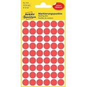 Avery-Zweckform Točke za obilježavanje Avery Zweckform 3141, promjer 12 mm,crvene boje, 270 komada Avery-Zweckform