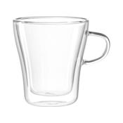 LEONARDO DUO Mug 250 ml O 8,7 cm Handmade Dishwasher Safe Double Walled Clear 054141