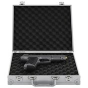 vidaXL Kovček za pištolo aluminij in ABS srebrn