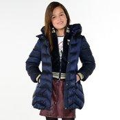 Moder zimski puhast plašč s pasom za punce - Mayoral