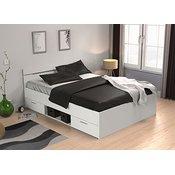 Fola postelja Michigan (140x200cm), bela