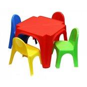 Igracka Stol i 4 stolice set za djecu