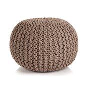 VIDAXL ročno pleteni tabure iz bombaža (50x35cm), rjav