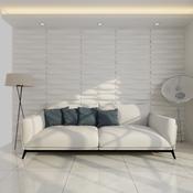 VIDAXL stenski 3D panel vzorec val  6m2