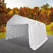 vidaXL šotor za shranjevanje PVC 550 g/m2 3x6 m bel