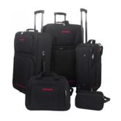 5 komada crni set prtljaga za putovanje
