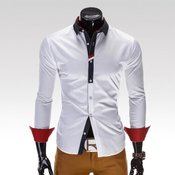 Ombre Clothing moška srajca Uzziel bela