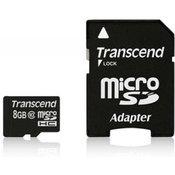 Memorijska kartica transcend sd micro 8gb hc class 10 + sd adapter