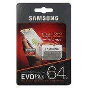 Samsung EVO Plus 64GB microSDXC memorijska kartica  (OSAM-MB-MC64GA-EU)