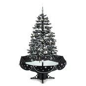 ONECONCEPT božično drevo Everwhite-BK (180cm), (simulacija snega), črno