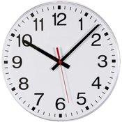 EuroTime Radijski kontrolirani zidni sat EuroTime 1561885 300 mm bijele boje