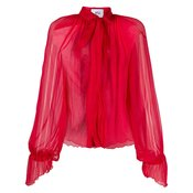 Atu Body Couture - silk pussybow blouse - women - Red