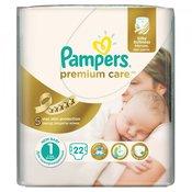PAMPERS pleničke Premium Care Newborn 1 (2-5kg), 22 kosov